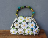Orinuno Daisy Bag - Handfolded and Sewn Flowers