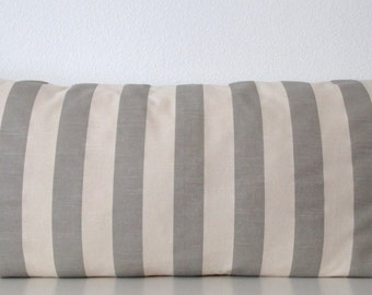Body pillow cover - Grey - Natural - Stripes - 20x54 - Decorative - Body pillow case