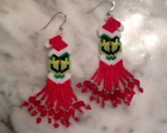 Grumpy Elf Beaded Earrings