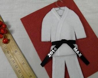 BLACK Belt - Martial Arts Uniform - pErSoNaLiZeD with Name and Year - TaeKwonDo Karate Jiu Jitsu Bando Hapkido