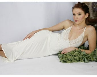 long bamboo nightgown - GEM lingerie range - made to order
