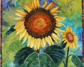 Sunflowers Art Quilt Pattern by Lenore Crawford