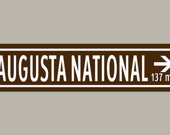 Custom Augusta National Masters Golf Road Sign