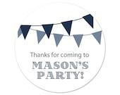 Personalized Birthday Party Stickers - Custom Favor Labels - Banners  - Favor Stickers - Party Labels - Pennant Stickers
