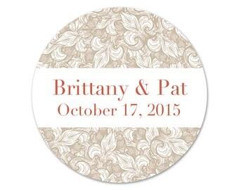 Personalized Wedding Stickers - Wedding Labels - Favors Stickers - Fleur de lis - Custom Favor Labels - Choose Your Colors