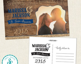 Save The Date - Rustic Wedding