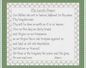 PDF Download - The Lord's Prayer - Religious - An Original Cross Stitch, Pattern by CrossStitchCards