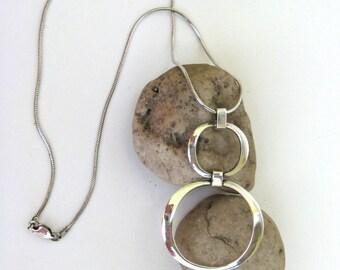 vintage necklace   ...    sterling silver  ...  mid century modern design