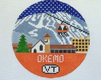 Okemo Needlepoint Ornament