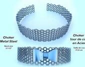 Choker, Metal Steel with Bow Tie