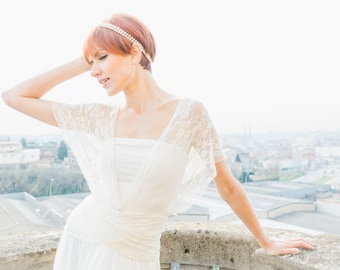 Romantic wedding dress, ivory lace wedding dress, bridal gown, lace wedding gown, romantic wedding infinity lace dresses, lace maxi dresses