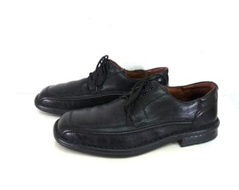 Vintages black leather shoes Alfani loafer lace  Mens Size 13M
