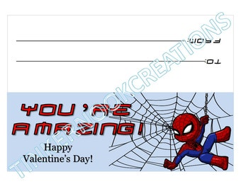 Spiderman Valentine's Day Treat Bag Topper