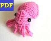 PDF Crochet Amigurumi Animal Pattern: Miniature Cuttlefish Amigurumi PATTERN