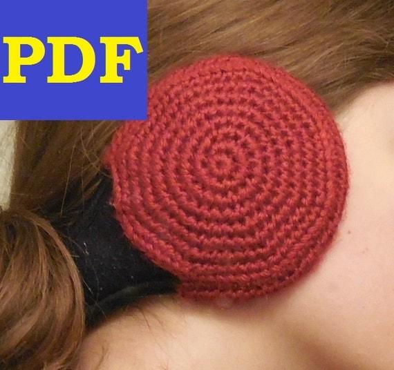 Free Crochet Earmuff Pattern : PDF Crochet Pattern: Ear Muff Covers 180 Degree Wrap Around