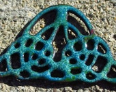 Enameled Copper Celtic Knot Pendant