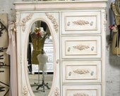 Painted Cottage Chic Shabby Romantic French  Dresser LGCH24