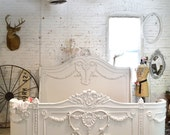 Queen or King French Bed Painted Cottage Shabby Chic French Bed BD718
