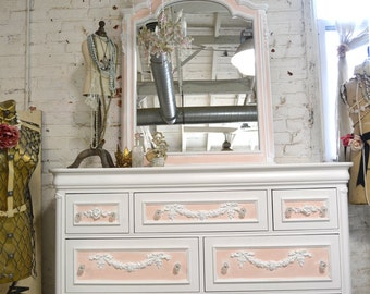 Painted Cottage Chic Shabby Romantic French Dresser LGDR23