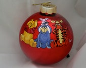 Hand Painted Ornament-Winnie Pooh/Piglet/Donkey-Item 842