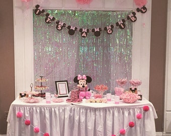 minnie inspired banner minnie mouse baby shower banner sign decoration