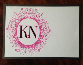 Initial Notecard, Simple Note Card