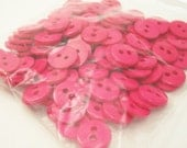 """Bright Pink 7/16"""" (11 mm) buttons, Qty 114"""