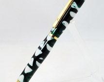 Handmade Custom Slim Mechanical Pencil, Mint Julep Acrylic, 10k Gold trim By ASHWoodshops