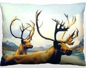 Decorative Nature Pillow - Wild Elk