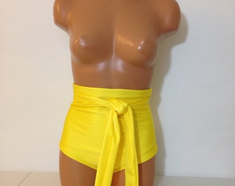 High waist swimsuit bottom with wrap