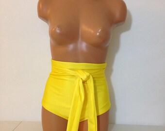 High waist swimsuit bottom with wrap