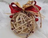 Christmas Ornament, Christmas Decorations, Rustic Ornament, Wicker Bauble, Wicker Ball, Natural, Rustic Ornaments, Decorative Balls