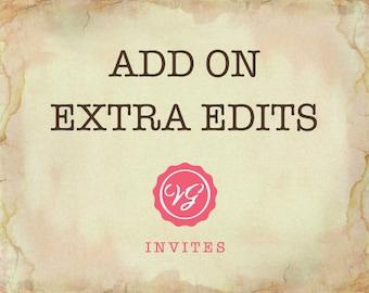 Add Extra Edits