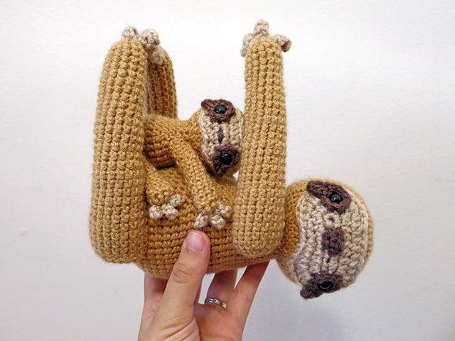 MADE to ORDER Amigurumi Sloth crochet animal plush
