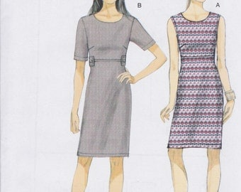 Very Easy Vogue Pattern V9047 Close-Fitting Pullover Dress for Moderate Stretch Knits MIsses' 8 -16