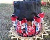 Cotton Canvas Tote Chicago Bulls Basketball Fabric Design Bingo Bag Holds 18 Daubers at once