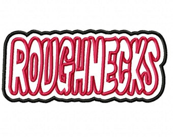 Roughnecks Embroidery Machine Double Applique Design 4280