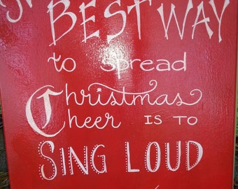 Holiday Christmas canvases with your choice of colors and wording