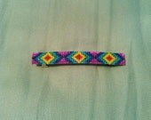Shiny Rainbow Hand Beaded Barrette 2