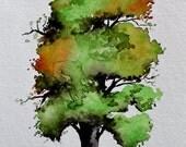 "Original Watercolor Painting- "" A Very Nice Tree"""