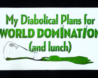 My Diabolical Plans for WORLD DOMINATION (and Lunch) - School Bag - Canvas Bag - Carryall Tote