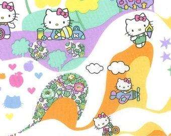 Liberty Tana Lawn Fabric, Liberty Japan Limited, Liberty of London,Mim Hello Kitty, Liberty Print Cotton Scrap, Kawaii Patchwork Fabric, 28f