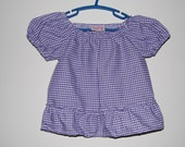 Top with Purple Gingham