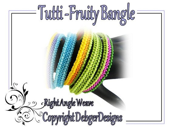 Tutti-Fruity Bangle -  Beading Pattern Tutorial