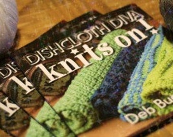 KNITTING BOOK-Dishcloth Diva Knits On, Dishcloth Pattern