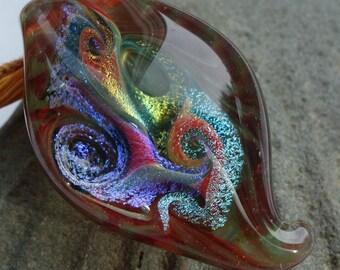 Swirling Galaxy Glass Pendant Bead