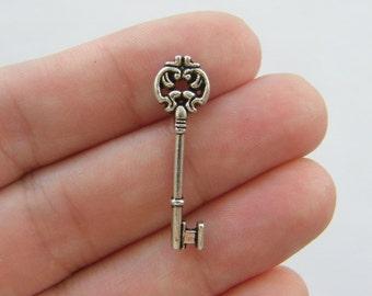 12 Key charms tibetan silver BOX12