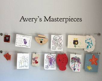 Personalized Masterpieces Wall Decal - Children Artwork Display Decal - Custom Name - Medium