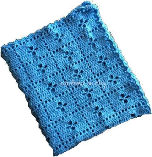 Crochet PATTERN Daisy A Day Blanket/Afghan/Crib Pram Cover