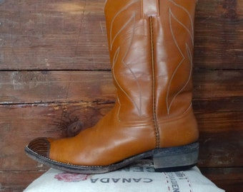 1960's, Justin cowboy boot, men's size 6, women's size 8